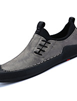 cheap -Men's Shoes Nappa Leather Spring Fall Comfort Loafers & Slip-Ons for Outdoor Khaki Black