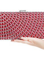 cheap -Women's Bags PU Evening Bag Pearl Detailing for Casual All Seasons Blue Champagne Red Rainbow