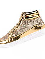 cheap -Men's Shoes Synthetic Microfiber PU Spring Fall Comfort Sneakers for Casual Gold Black Silver
