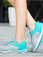 cheap -Women's Shoes PU Tulle Summer Comfort Sneakers Flat Closed Toe for Casual Outdoor Pink Blue Purple
