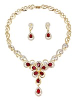 cheap -Women's Jewelry Set Bridal Jewelry Sets Fashion Elegant Wedding Ceremony Gold Plated 1 Necklace Earrings