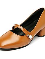 abordables -Mujer Zapatos PU Primavera Otoño Confort Tacones Tacón Bajo para Negro Beige Marrón