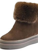 cheap -Women's Shoes Fur Winter Fall Fashion Boots Combat Boots Boots Creepers Mid-Calf Boots for Casual Party & Evening Black Khaki