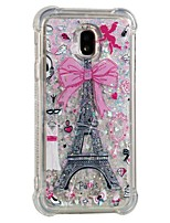cheap -Case For Samsung Galaxy J7 (2017) J5 (2017) Shockproof Flowing Liquid Pattern Back Cover Eiffel Tower Soft TPU for J7 (2017) J7 (2016) J7
