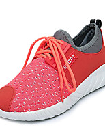 cheap -Women's Shoes Tulle Spring Comfort Sneakers Flat Heel Round Toe for Casual Red Black