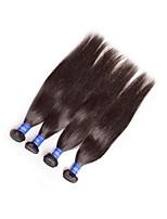abordables -Bonne qualité vierge brésilienne remy droite cheveux humains tisse faisceaux 4 pièces 400g lot naturel noir couleur