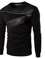 preiswerte -Herren Pullover Ausgehen Solide Rundhalsausschnitt Mikro-elastisch Polyester Langärmelige Winter Herbst
