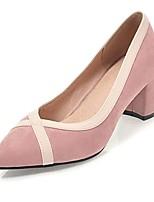 Недорогие -Жен. Обувь Дерматин Весна Осень Удобная обувь Обувь на каблуках На толстом каблуке Заостренный носок для Для праздника Для вечеринки /