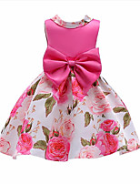 cheap -Girl's Daily Going out Floral Print Flower/Floral Dress,Cotton Polyester Spring, Fall, Winter, Summer All Seasons Sleeveless Cute Active