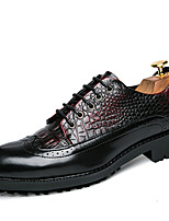 cheap -Men's Shoes Leatherette Spring Fall Comfort Oxfords for Casual Brown Burgundy