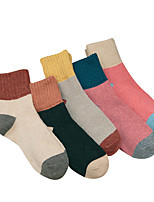 cheap -Women's Medium Stockings-Solid Colored Block Patchwork