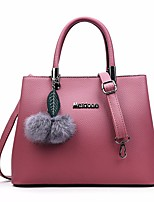 cheap -Women Bags PU Tote Feathers / Fur for Outdoor Winter Fall Gray Blushing Pink Red Black Blue