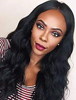 cheap -Human Hair Lace Front Wig Brazilian Hair Natural Wave With Baby Hair Unprocessed 100% Virgin Natural Hairline 8-11inch 130% Density