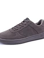Недорогие -Муж. обувь Дерматин Весна Удобная обувь Кеды для Повседневные на открытом воздухе Черный Светло-серый Темно-красный