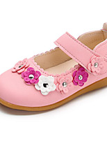 cheap -Girls' Shoes Leatherette Spring Fall Comfort Flower Girl Shoes Flats for Casual Pink Fuchsia White