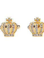 cheap -Crown Golden Blue Silver Cufflinks Imitation Diamond Alloy Formal Fashion Elegant Wedding Evening Party Men's Costume Jewelry