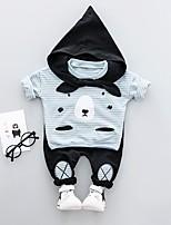 Недорогие -baby set длинный рукав макет шеи пуловер милый заостренный галстук колпачок лоскутное шитье полный длина брюки шикарный набор