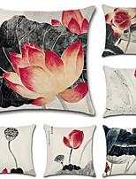 cheap -6 pcs Cotton/Linen Pillow Cover,Floral Bohemian Style Retro