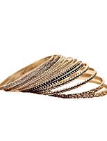 abordables -Femme Manchettes Bracelets Mode Alliage Forme Géométrique Bijoux Quotidien