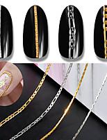 preiswerte -1pc Punk - Mode Art Deco / Retro Nagel Glitter Silbern Gold