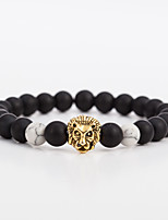 cheap -Men's Women's Bracelet Strand Bracelet Onyx Black Matte Vintage Fashion Ethnic Alloy Circle Leopard Jewelry Gift Evening Party