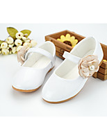 cheap -Girls' Shoes Leatherette Spring Summer Comfort Flower Girl Shoes Flats Walking Shoes Applique Beading Magic Tape for Wedding Party &