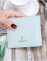 cheap -Women's Bags PU Wallet Flower(s) for Shopping Casual All Seasons Light Purple Light Green Blushing Pink Black