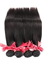 cheap -Brazilian Hair Straight Human Hair Weaves Natural Color Hair Weaves Women's Daily