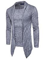 Недорогие -Муж. Повседневные Обычный Пуловер Сплошной цвет,Хомут Длинные рукава Японскийхлопок Весна Осень Плотная Слабоэластичная