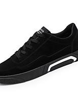 Недорогие -Муж. обувь Дерматин Весна Осень Удобная обувь Кеды для Повседневные Черный Серый Красный
