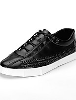 cheap -Men's Shoes Leather Spring Summer Comfort Sneakers for Casual Outdoor Brown Black White