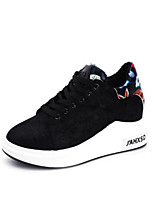 cheap -Women's Shoes PU Spring Fall Comfort Sneakers Flat Closed Toe for Casual Outdoor Black