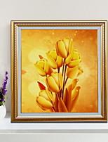 Недорогие -ботанический Иллюстрации Предметы искусства,Алюминиевый сплав материал с рамкой For Украшение дома Предметы искусства в рамках В помещении