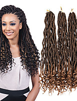 cheap -20inch Ombre Curly Faux Locs Crochet Braiding Curly Weave Hair Synthetic Soft Dread Locs Pre Loop Crochet Twist Extensions 23roots/Pack 6-8pc/Head