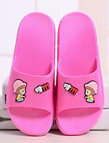 Недорогие -Жен. Обувь силикагель Лето Удобная обувь Тапочки и Шлепанцы На плоской подошве Круглый носок для Повседневные Черный Лиловый Пурпурный