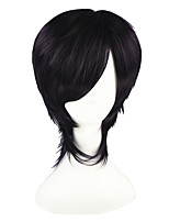 cheap -14inch Short Dark Purple Gin Tama Takasugi Shinsuke Synthetic Anime Cosplay Wig CS-001K
