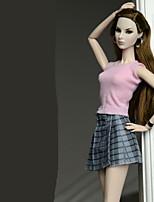 Недорогие -Инвентарь Юбки Топ Для Кукла Барби Розовый Кофты Юбки Для Девичий игрушки куклы