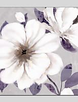 Недорогие -Ручная роспись Цветочные мотивы/ботанический Квадратный, Modern Hang-роспись маслом Украшение дома 1 панель