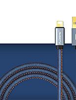 abordables -USB2.0 Type-C Adaptateur de câble USB Portable Haut débit Pour Samsung Huawei LG Nokia Lenovo Motorola Xiaomi HTC Sony 100 cm Aluminium