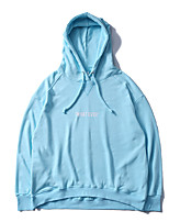 cheap -Men's Plus Size Going out Casual Hoodie Solid Hooded Hoodies Micro-elastic Cotton Long Sleeve Spring/Fall