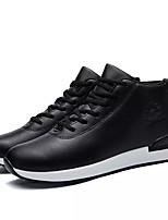 Недорогие -Муж. обувь Полиуретан Весна Осень Светодиодные подошвы Кеды для Повседневные Черный Кофейный Красный