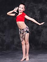 abordables -Danza del Vientre Accesorios Niños Actuación Fibra de Leche Diseño / Estampado Sin mangas Cintura Baja Faldas Tops