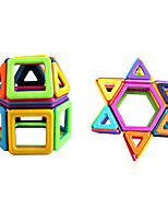 cheap -Magnetic Blocks 50 pcs Parent-Child Interaction Toy Truck Construction Vehicle Round Square Car Children's Gift