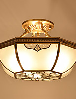 Traditional/Classic Mini Style Flush Mount Ambient Light For Bedroom Dining Room 220-240V 110-120V Bulb Not Included