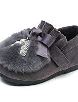 cheap -Girls' Shoes Nubuck leather PU Winter Fall Comfort First Walkers Loafers & Slip-Ons for Casual Burgundy Gray Black