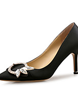 Недорогие -Жен. Обувь Лак Шёлк Весна Осень Удобная обувь Обувь на каблуках На шпильке Заостренный носок Стразы для Для праздника Для вечеринки /