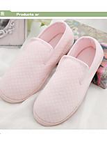 Недорогие -Жен. Обувь Ткань Весна Осень Удобная обувь Тапочки и Шлепанцы На низком каблуке для Повседневные Розовый Светло-синий