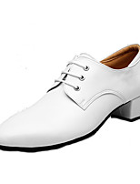 "cheap -Men's Modern Real Leather Cowhide Oxford Outdoor Low Heel White 1"" - 1 3/4"" Customizable"