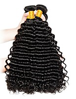 cheap -Brazilian Hair Deep Wave Human Hair Weaves Natural Color Hair Weaves Women's Daily