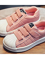 cheap -Girls' Shoes Real Leather Spring Fall Comfort Sneakers for Casual Pink Black White